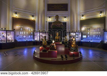 Ho Chi Minh, Vietnam - Oct 18, 2019 : Main Hall Of Vietnam History Museum In Ho Chi Minh, Vietnam On