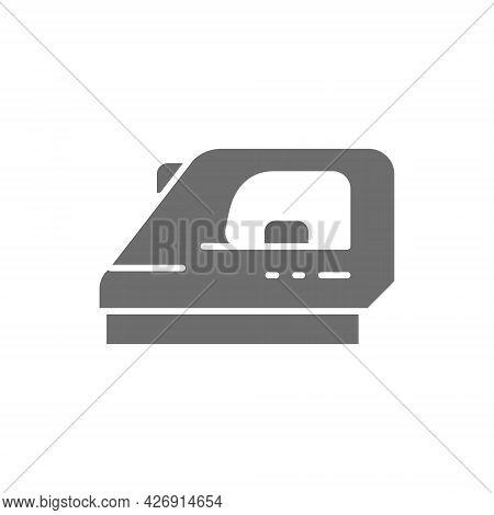 Iron, Ironing Grey Icon. Isolated On White Background