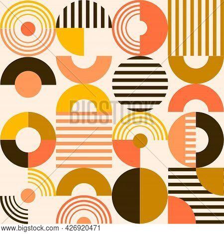 An Artistic Retro Style Bauhaus Graphic Pattern.