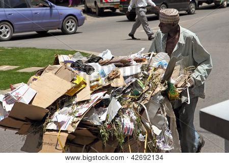 African Trash Man