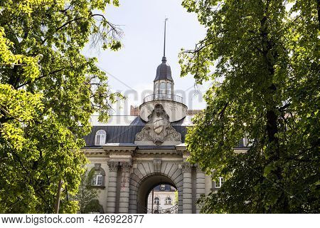 Moscow, Russia - May 23, 2021: Leon Mantashev's Stables Architectural Landmark Of Moscow City. The S