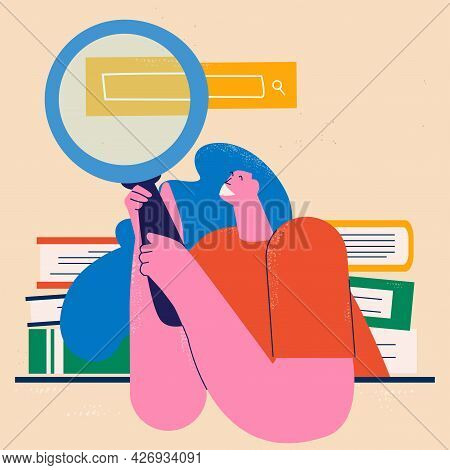 Education, Learning, Teaching Flat Vector Illustration. Classes, Lessons, Training Courses, Tutorial