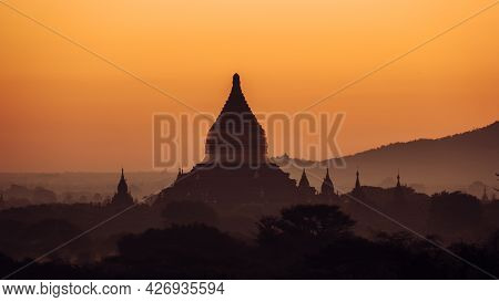 Bagan Myanmar, Pagodas, And Temples Of Bagan, In Myanmar, Formerly Burma, A World Heritage Site Duri