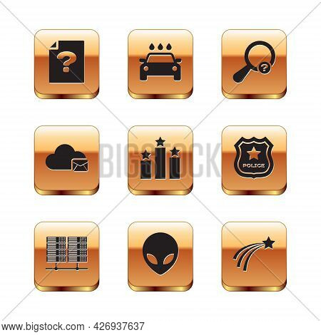 Set Unknown Document, Server, Data, Web Hosting, Alien, Ranking Star, Cloud Mail Server And Search I