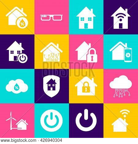 Set Smart Home With Wi-fi, Internet Of Things, Remote Control System, House, Humidity And Under Prot