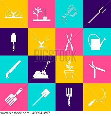 Set Sickle, Gardening Handmade Scissor, Watering Can, Automatic Irrigation Sprinklers, Trowel Spade