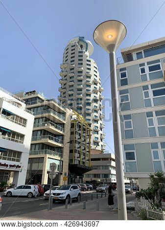 Tel-aviv, Israel - May 05, 2021: Isrotel Tower Hotel On The Waterfront Of Tel Aviv