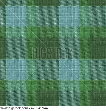 Knit Wool Plaid Background Pattern. Traditional Warm Checkered Handmade Stitch Texture Effect. Seaml
