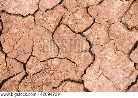 Dry Clay Soil Texture During Dry Season