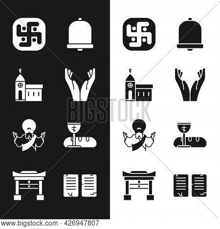 Set Hands In Praying Position, Church Building, Jainism, Bell, Jesus Christ, First Communion Symbols
