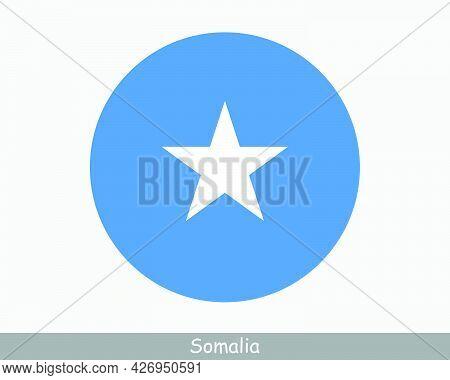 Somalia Round Circle Flag. Somali Circular Button Banner Icon. Eps Vector