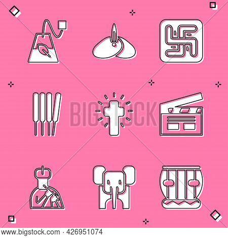 Set Tea Bag, Indian Headgear Turban, Hindu Swastika, Aroma Sticks, Incense, Christian Cross, Bollywo