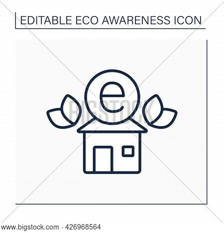 Eco Club Line Icon. Like-minded People Meeting. Environment Protection Association. Eco Awareness Co