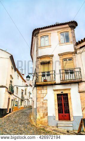 Architecture Of The Old Town Of Estremoz In Alentejo, Portugal