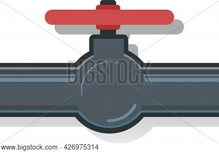 Water Fittings. Pipeline For Various Purposes. System Repair And Liquid Or Gas Supply Symbol. Illust