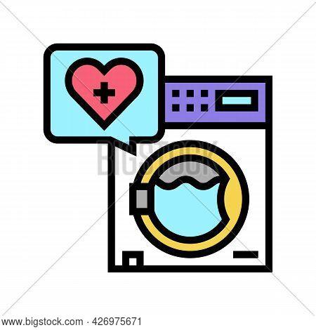 Wash Laundry Homecare Service Color Icon Vector. Wash Laundry Homecare Service Sign. Isolated Symbol