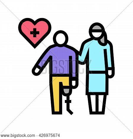 Personal Care Homecare Service Color Icon Vector. Personal Care Homecare Service Sign. Isolated Symb