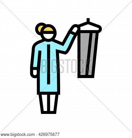 Dressing Homecare Service Color Icon Vector. Dressing Homecare Service Sign. Isolated Symbol Illustr