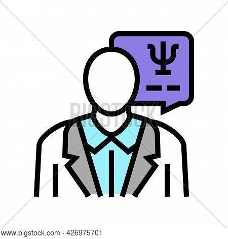 Psychologist Homecare Service Color Icon Vector. Psychologist Homecare Service Sign. Isolated Symbol