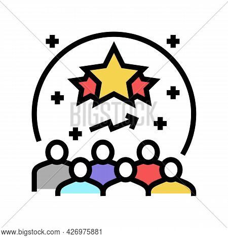 Popularity Reputation Management Color Icon Vector. Popularity Reputation Management Sign. Isolated