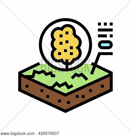 Tree Growth On Organic Soil Color Icon Vector. Tree Growth On Organic Soil Sign. Isolated Symbol Ill