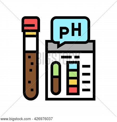 Ph Soil Testing Color Icon Vector. Ph Soil Testing Sign. Isolated Symbol Illustration