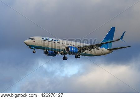 Saint Petersburg, Russia - October 28, 2020: Boeing 737-800 (vq-btj) Aircraft Of Pobeda Airlines On