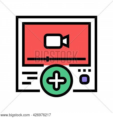 Video Content Ugc Color Icon Vector. Video Content Ugc Sign. Isolated Symbol Illustration