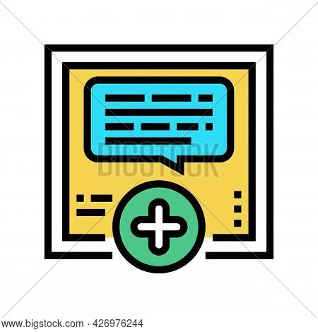Chatting With User Ugc Color Icon Vector. Chatting With User Ugc Sign. Isolated Symbol Illustration