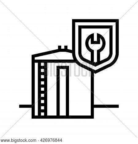 Installation Of Storage Tank Line Icon Vector. Installation Of Storage Tank Sign. Isolated Contour S