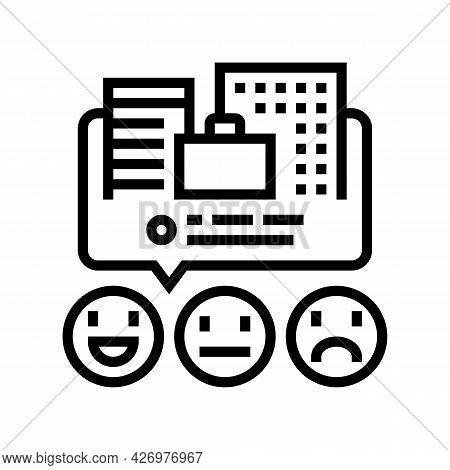 Reviews Business Services Line Icon Vector. Reviews Business Services Sign. Isolated Contour Symbol
