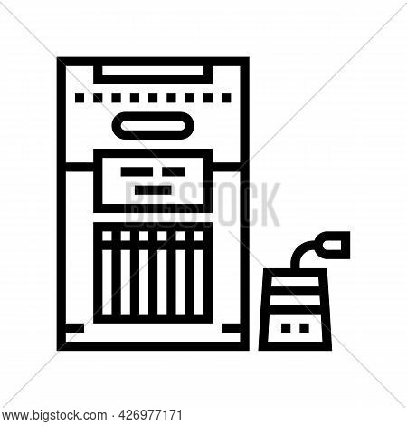 Packaged Tea Line Icon Vector. Packaged Tea Sign. Isolated Contour Symbol Black Illustration
