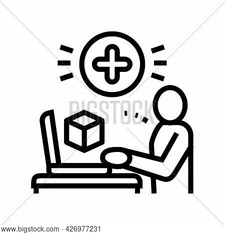 User Social Media Ugc Line Icon Vector. User Social Media Ugc Sign. Isolated Contour Symbol Black Il
