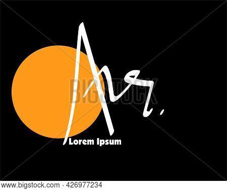Ar Or Ahr Initial Handwriting Ar Handwritten Logo