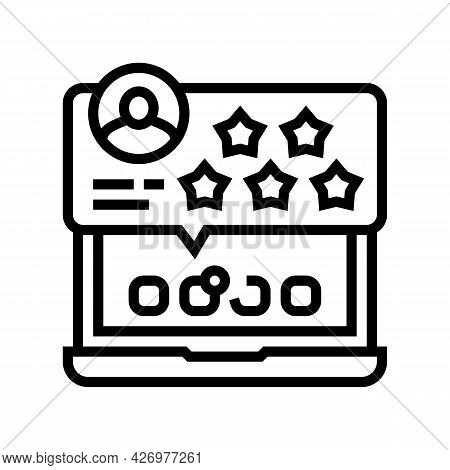 Review And Feedback Of Services Ugc Line Icon Vector. Review And Feedback Of Services Ugc Sign. Isol