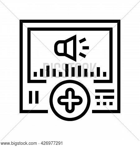 Audio Message Ugc Line Icon Vector. Audio Message Ugc Sign. Isolated Contour Symbol Black Illustrati