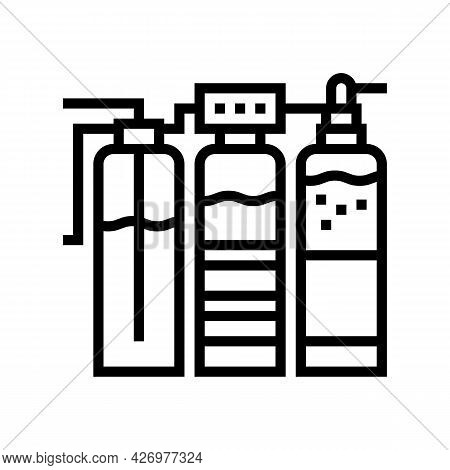 Water Different Filtration Filter Line Icon Vector. Water Different Filtration Filter Sign. Isolated