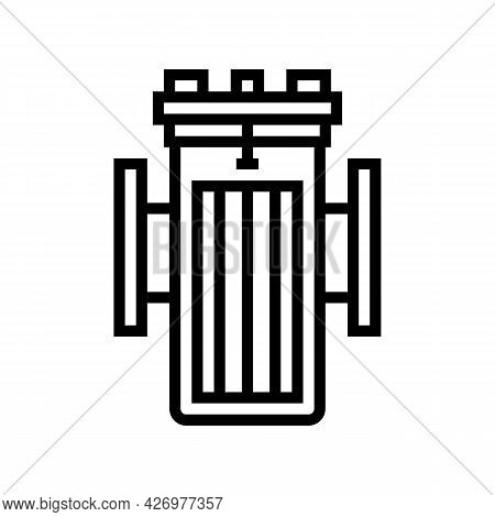 Water Filter Equipment Line Icon Vector. Water Filter Equipment Sign. Isolated Contour Symbol Black