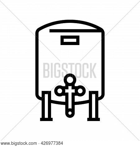 Tank With Water Filter Line Icon Vector. Tank With Water Filter Sign. Isolated Contour Symbol Black