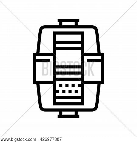 Layers In Water Filter Line Icon Vector. Layers In Water Filter Sign. Isolated Contour Symbol Black