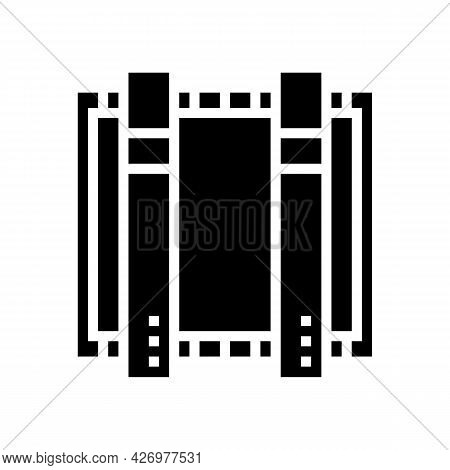 Plant Equipment For Glass Production Glyph Icon Vector. Plant Equipment For Glass Production Sign. I