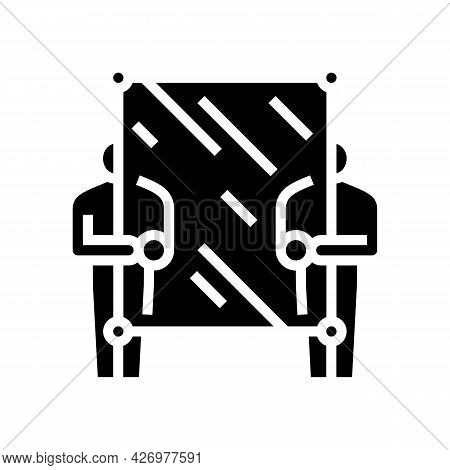 Glass Carrying Workers Glyph Icon Vector. Glass Carrying Workers Sign. Isolated Contour Symbol Black
