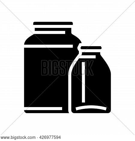 Jar Glass Production Glyph Icon Vector. Jar Glass Production Sign. Isolated Contour Symbol Black Ill