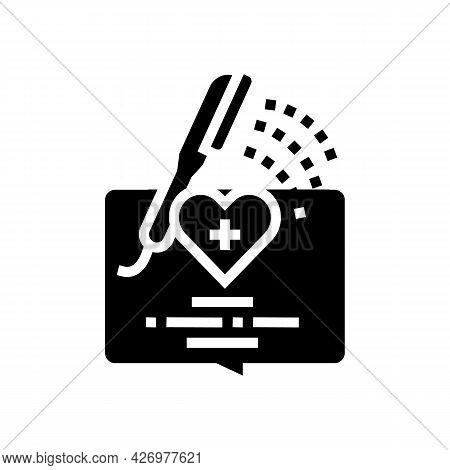 Bathing Homecare Service Glyph Icon Vector. Bathing Homecare Service Sign. Isolated Contour Symbol B