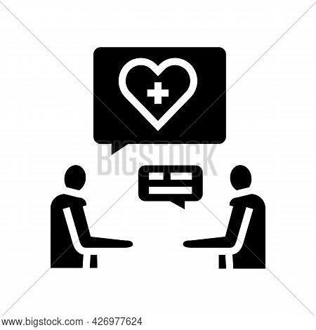 Consultation Homecare Service Glyph Icon Vector. Consultation Homecare Service Sign. Isolated Contou