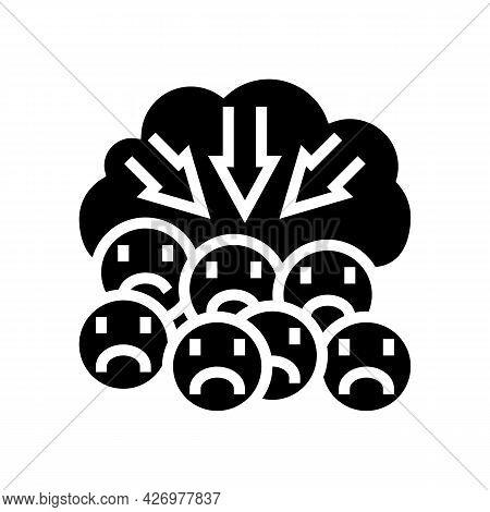 Suppression Of Negativity Reputation Management Glyph Icon Vector. Suppression Of Negativity Reputat