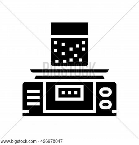 Equipment For Soil Testing And Weight Measuring Glyph Icon Vector. Equipment For Soil Testing And We