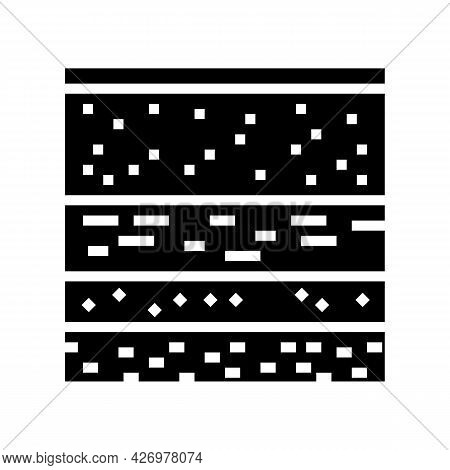 Layers Of Soil Glyph Icon Vector. Layers Of Soil Sign. Isolated Contour Symbol Black Illustration