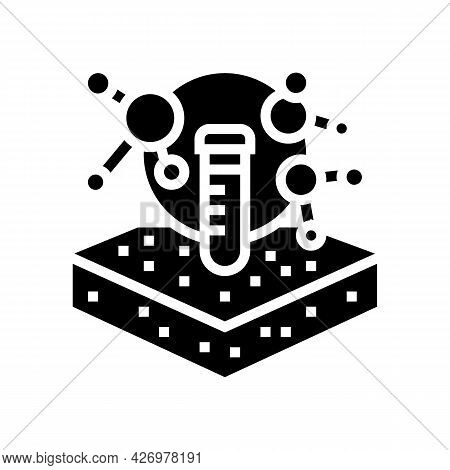 Laboratory Chemical Soil Testing Glyph Icon Vector. Laboratory Chemical Soil Testing Sign. Isolated