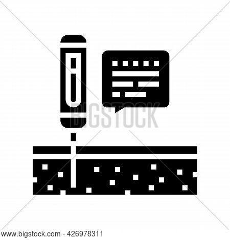 Device For Ph Soil Testing Glyph Icon Vector. Device For Ph Soil Testing Sign. Isolated Contour Symb